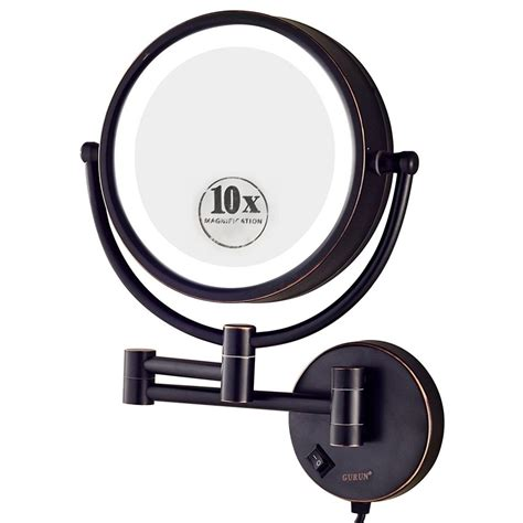 best lighted magnifying mirror lighted wall mounted makeup mirror style guru fashion