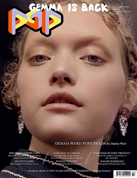 Is That You Pop Magazine Fashion Issue by Gemma Ward Gwen Stefani Cover Pop S S 2015