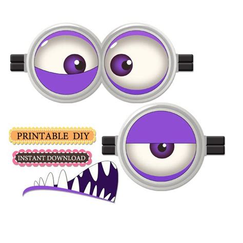 printable purple minion eyes 218 best images about thema quot minions quot on pinterest