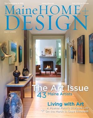 maine home and design maine home and design cover 2008 june lacombe sculpture
