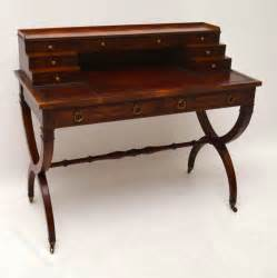 leather top writing desk antique yew wood leather top writing table desk antiques