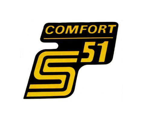 Schriftzug Aufkleber Shop by Simso Shop Aufkleber Schriftzug Quot S51 Comfort Quot F 252 R