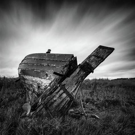 Drawing In Photography by St Cyrus Wreck Photograph By Dave Bowman