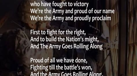 sog us army the army song with lyrics performed by the united states