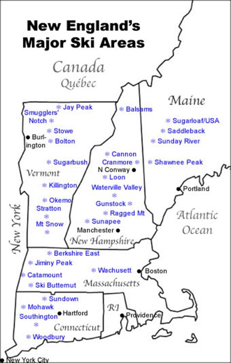 vermont ski resorts map noaa map who gets the most snow in the northeast usa