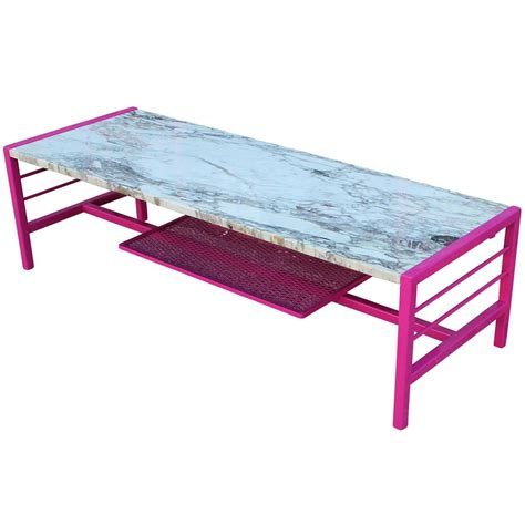 Pink Coffee Table Striking Carrara Marble And Pink Coffee Table For Sale At 1stdibs