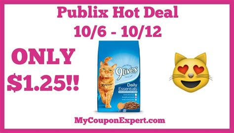 printable 9 lives cat food coupons hot deal alert 9lives cat food only 1 25 at publix from