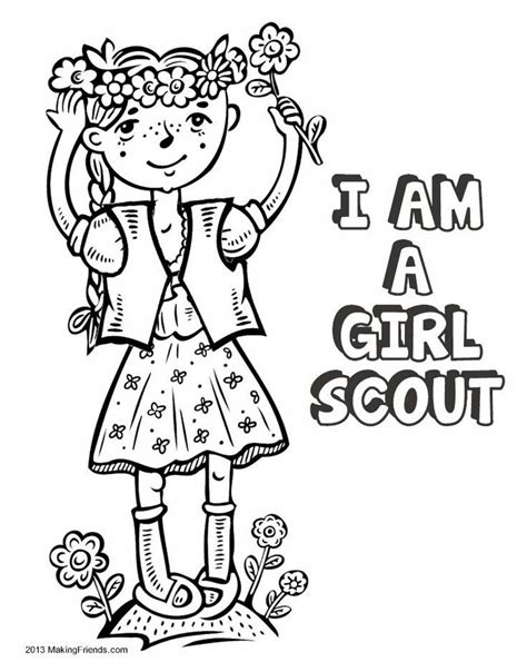 Girl Scout Brownie Coloring Pages Coloring Home Scout Brownie Coloring Pages