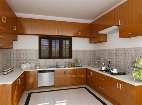 Design Interior Kitchen Home Kerala Modern House Kitchen