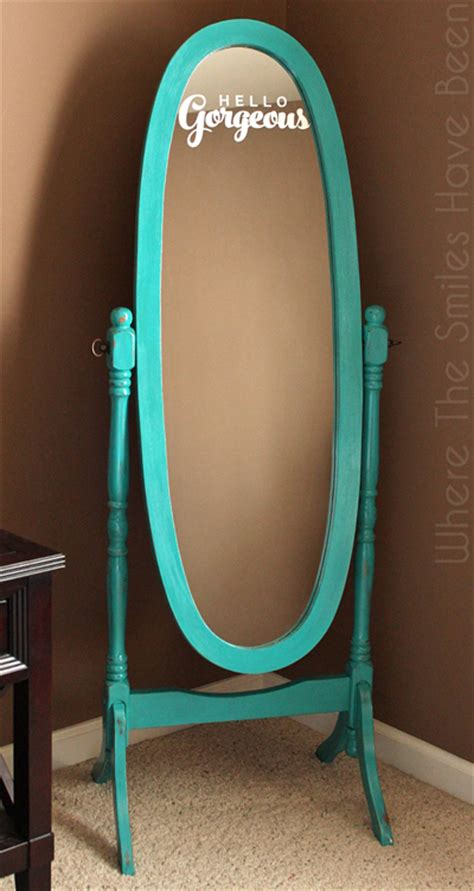 Hello Dresser With Mirror by Mirror Makeover With Chalk Paint Etched Glass Vinyl