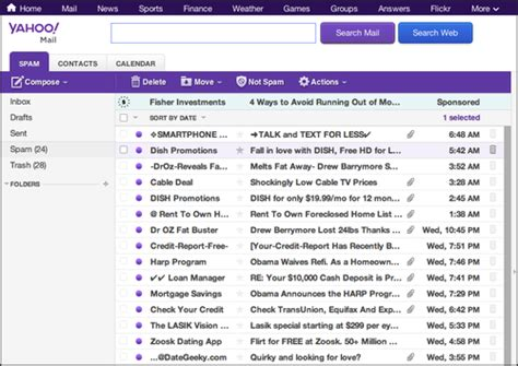yahoo email keeps going to spam image gallery spam folder