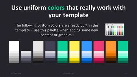 powerpoint template color scheme pro modern powerpoint template