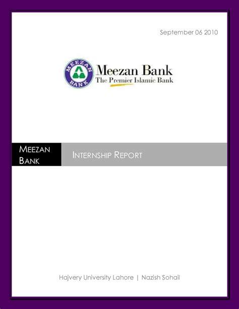 Internship 1st Year Mba The Principal Financial by Internship Report On Meezan Bank Vuaccess