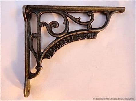 Antique Iron Shelf Brackets by Pair Beautiful Antique Style J Duckett Cast Iron