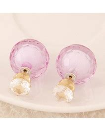 Anting Tusuk Conady Color Decorated Shape Design 1 discount light purple color decorated shape design asujewelry