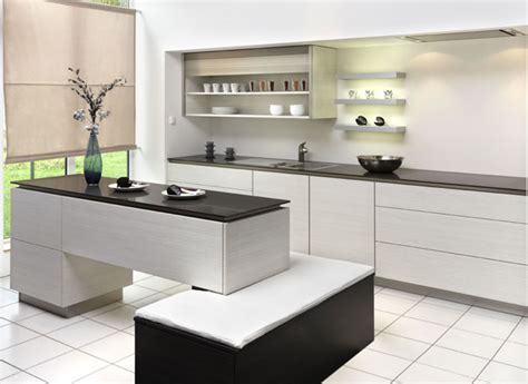 Modern Kitchen Ideas With White Cabinets New Modern Black And White Kitchen Designs From Kitcheconcept Digsdigs