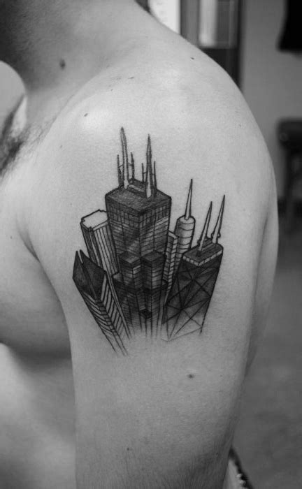 chicago skyline tattoo designs 20 chicago skyline designs for center ink