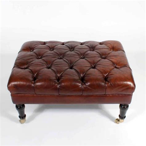 leather tufted ottoman at 1stdibs tufted leather ottoman or bench late 19th century image 6