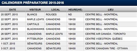 Calendrier Canadien De Montreal Le Calendrier Pr 233 Paratoire Des Canadiens D 233 Voil 233 25stanley