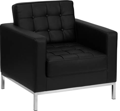 black leather armchair contemporary modern black leather chair with stainless steel frame