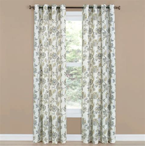 grommet top curtain panels belle maison collette floral grommet top curtain panel