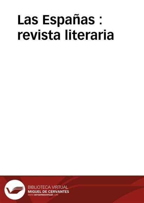 imagenes revista literaria las espa 241 as revista literaria biblioteca virtual