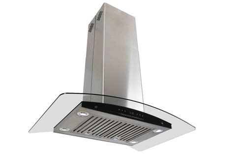 Best Brand Of Kitchen Faucets by Curvy Glass 36 Quot Island Mount Stainless Steel Range Hood