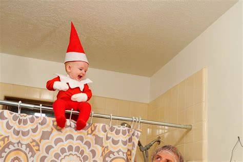 dad turns baby into elf on the shelf usa today dad turns baby into real life elf on a shelf nbc news