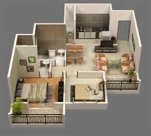 modern 2 bedroom apartment floor plans planos de apartamentos en 3d dise 241 os modernos construye