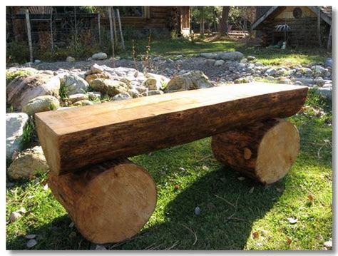 bench log log benches log benches garden ideas pinterest