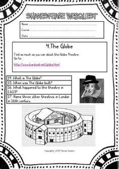 biography of william shakespeare lesson plan globe theatre cut out education pinterest