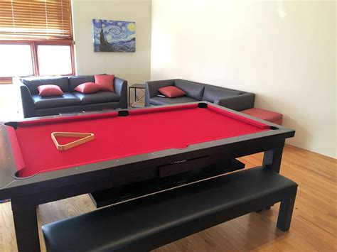 convertible pool table sleek convertible pool tables dining room pool tables by