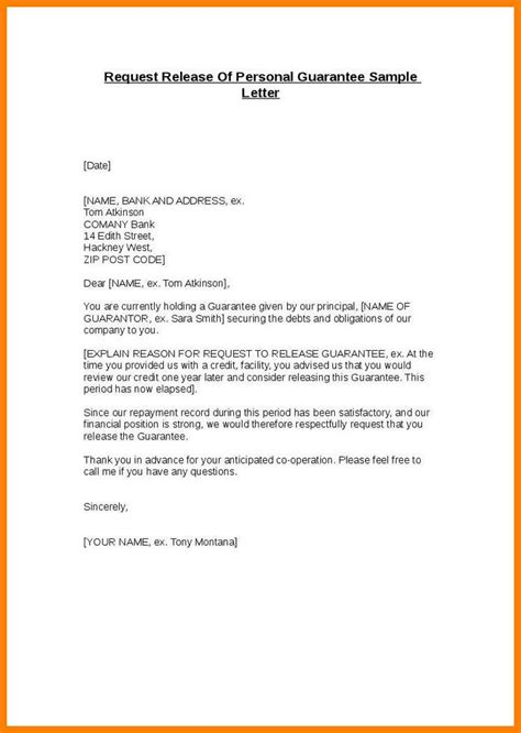 Guarantee Letter For Lease 7 guarantor letter template applicationleter