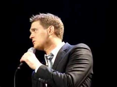 yuda singing lost michael buble michael buble lost st louis 3 05 08 youtube