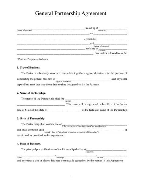 corporate partnership agreement template printable sle partnership agreement form real estate