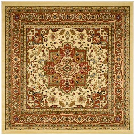 8 square rug safavieh lyndhurst ivory rust 8 ft x 8 ft square area rug lnh330r 8sq the home depot
