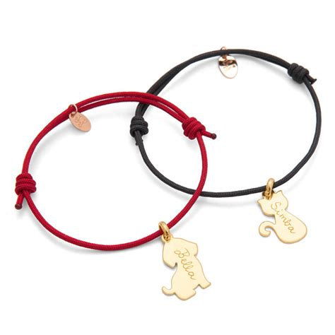 personalised dog or cat charm bracelet by merci maman   notonthehighstreet.com