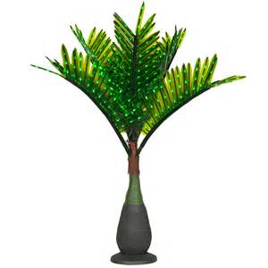 lighted palm trees 7 5 led bottle palm tree natural green