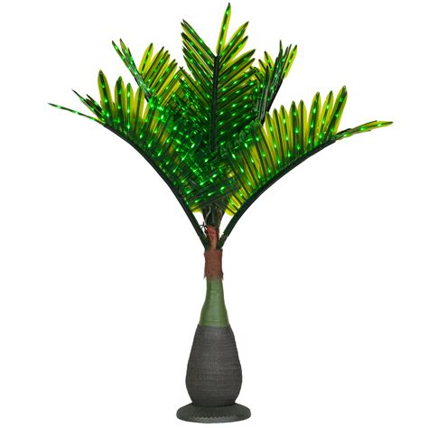 led palm trees for sale lighted palm trees 7 5 led bottle palm tree green