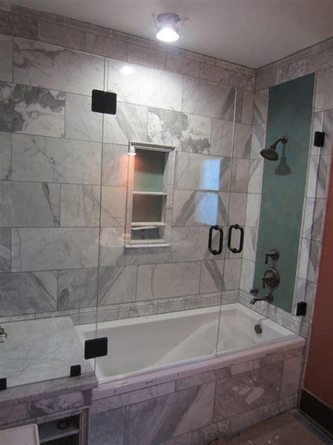 shower enclosure for bathtub tub and shower frameless enclosure patriot glass and