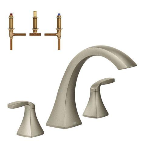 Moen Freestanding Tub Faucet by Moen Voss 2 Handle Deck Mount High Arc Tub Faucet