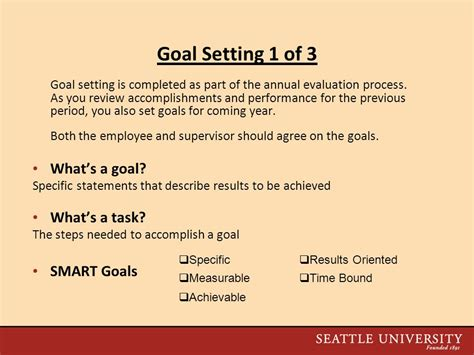 Making The Most Of Your 2009 Performance Evaluation Ppt Video Online Download Goals And Accomplishments Template