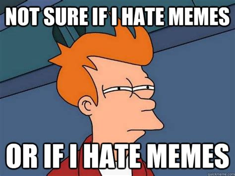 I Hate Memes - not sure if i hate memes or if i hate memes futurama fry