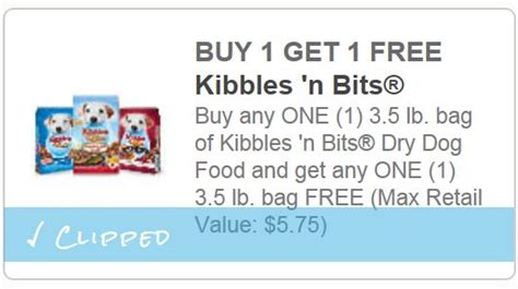 printable coupons and deals kibbles n bits dog food bogo kibbles n bits new printable coupon up to 5 75