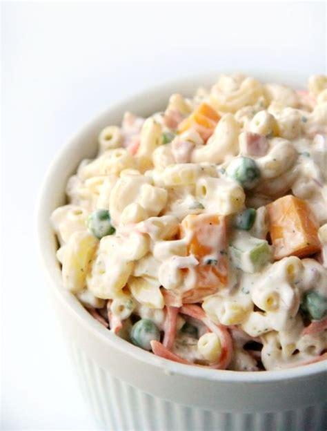 creamy pasta salad favehealthyrecipes com creamy ranch pasta salad recipe bacon hams and the o jays