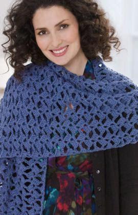 red heart yarn pattern lw2586 romantic lacy shawl crochet pattern red heart