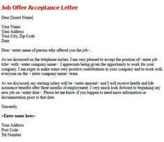 Appointment Letter For Kindergarten Position 1000 Images About Acceptance Letters On Letter Sle Letters And Offers