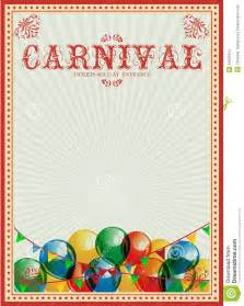 carnival background colorful balloons circus vintage