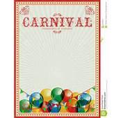 Fondo Del Carnaval Globos Coloridos Circo Cartel De La