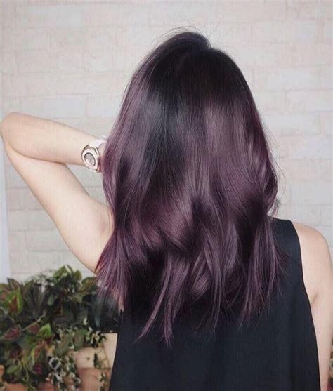 aubergine hair color eggplant hair color trend popsugar